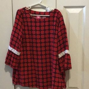 Other - Red and black rayon dress
